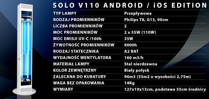 Dane techniczne SOLO V110